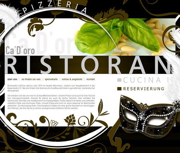 Ristorante Cadoro Website