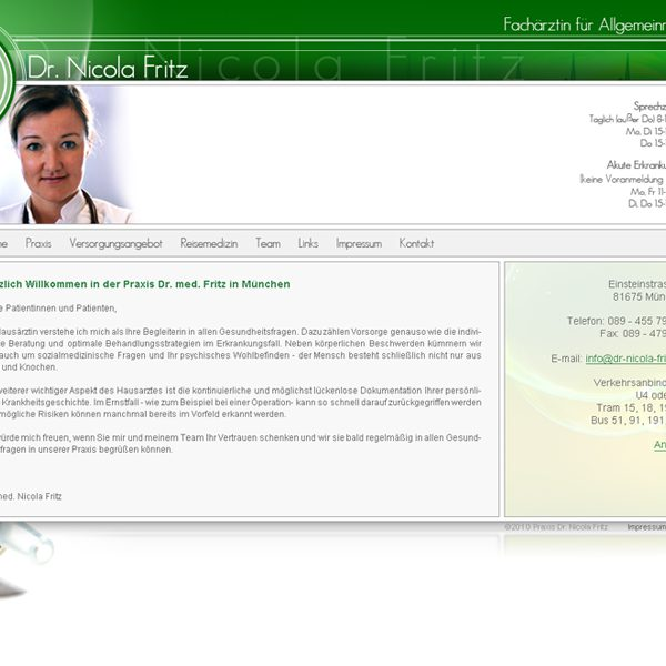 Dr. Nicola Fritz Website