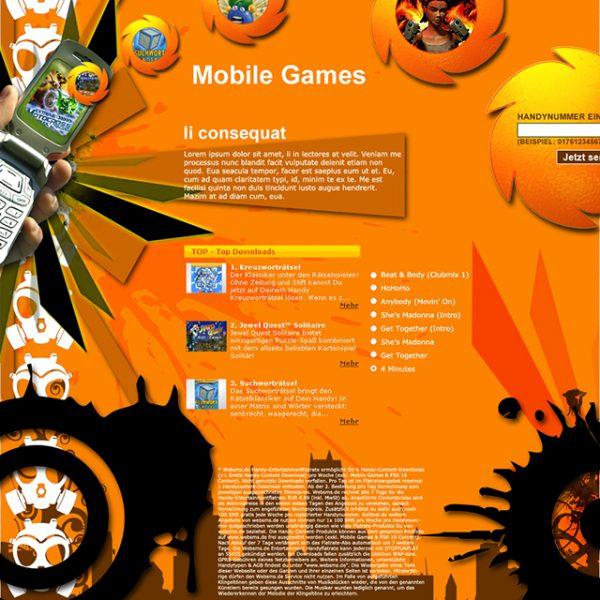 Mobile Games Landing Page