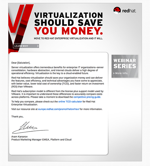 Red Hat RHEV Email