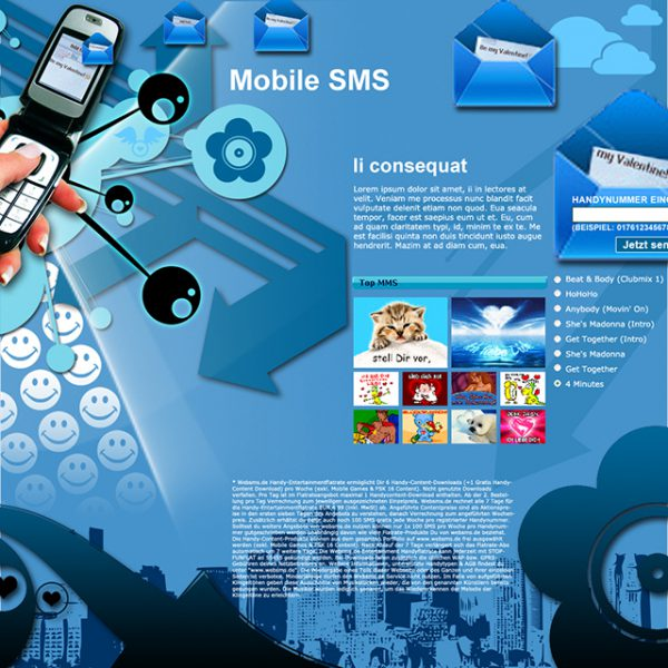 Mobile SMS Landing Page