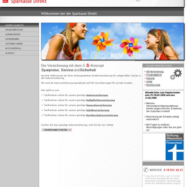 Sparkasse Website