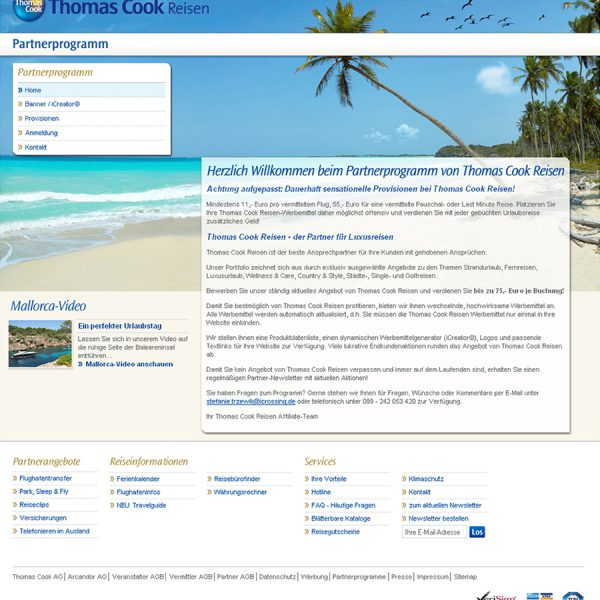 Thomas Cook Reisen Website