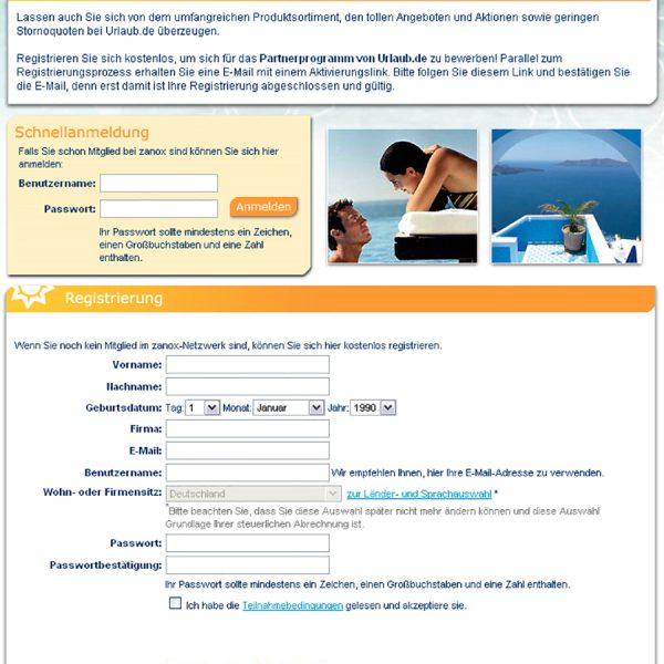 Urlaub Website